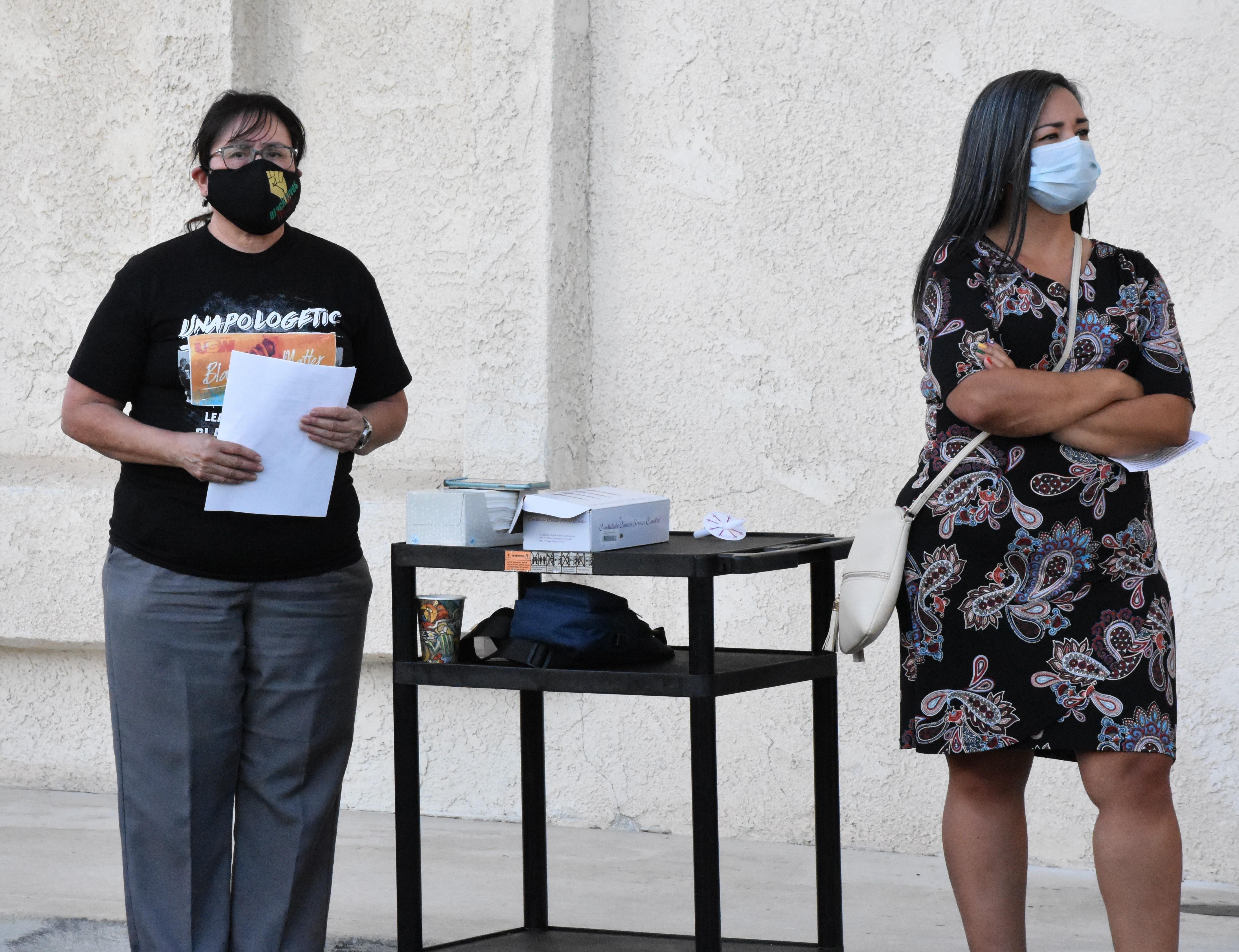 USW Local 7600 Recording Secretary Diana Gandara and Gabriela Plascencia – Riverside Councilwoman Ward 5