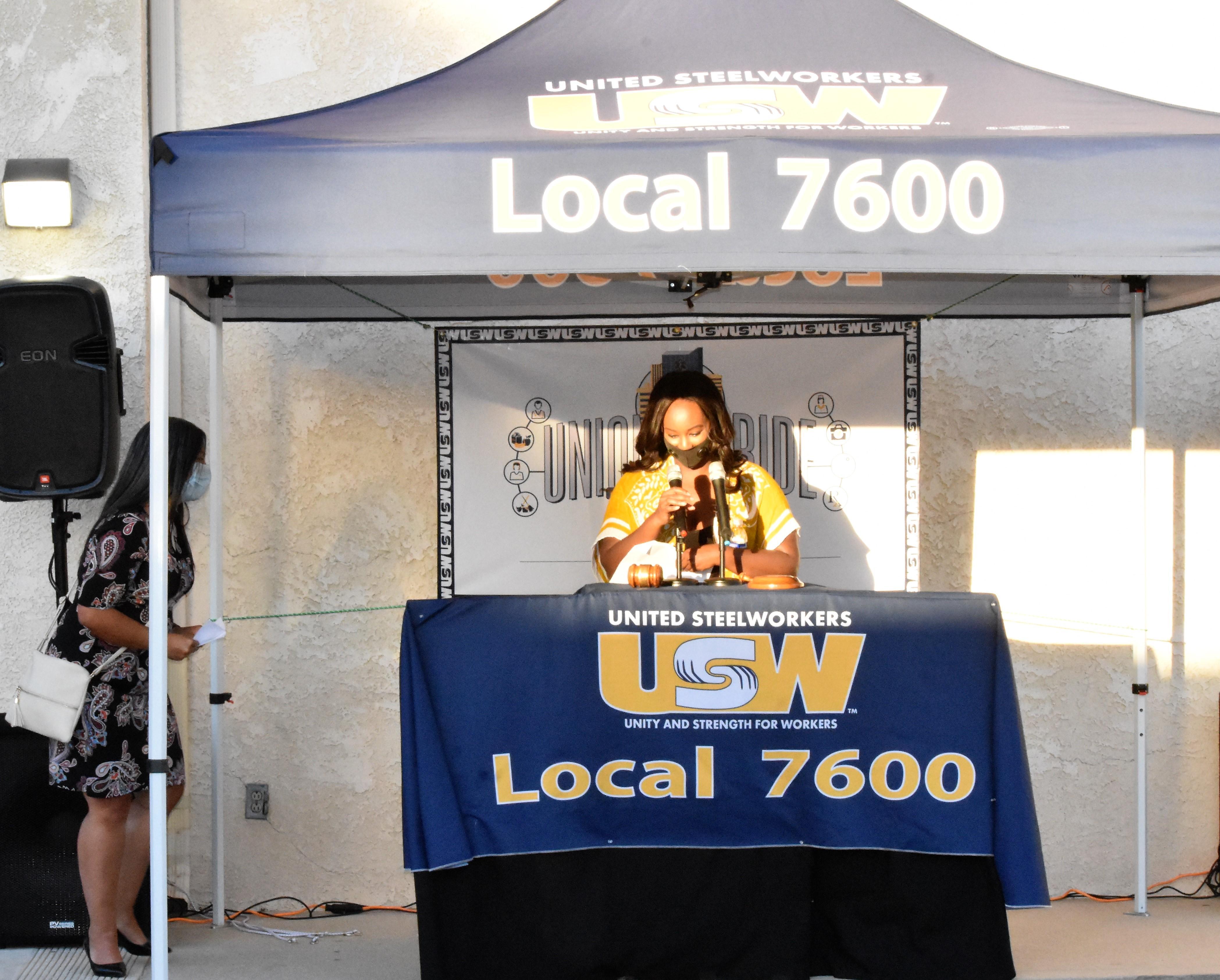 USW Local 7600 Member Dejonae Shaw Introduces Gabriela Plascencia – Riverside Councilwoman Ward 5