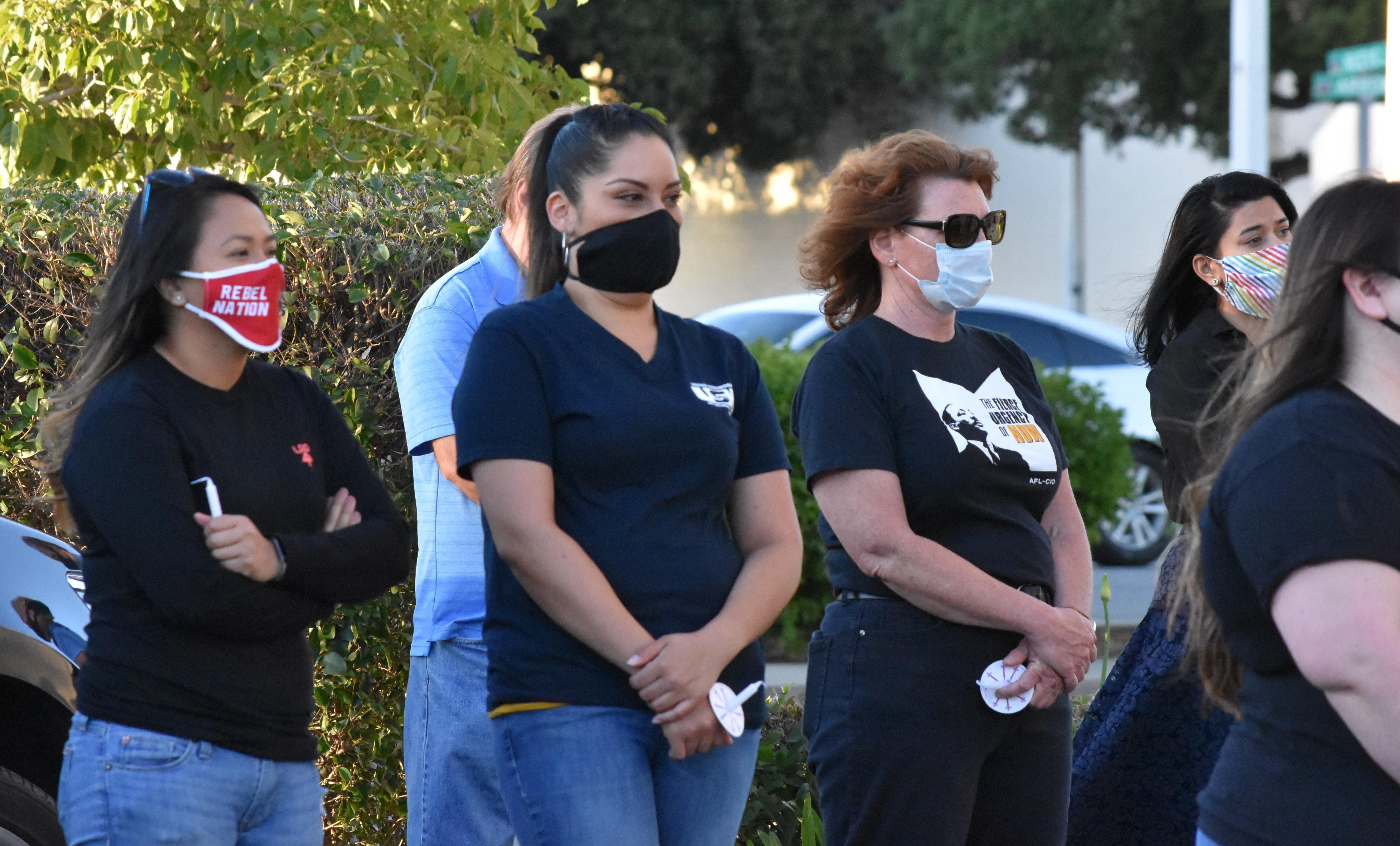 USW Local 8599 Member Kyleene Martinez With 8599 President Dawn Dooley