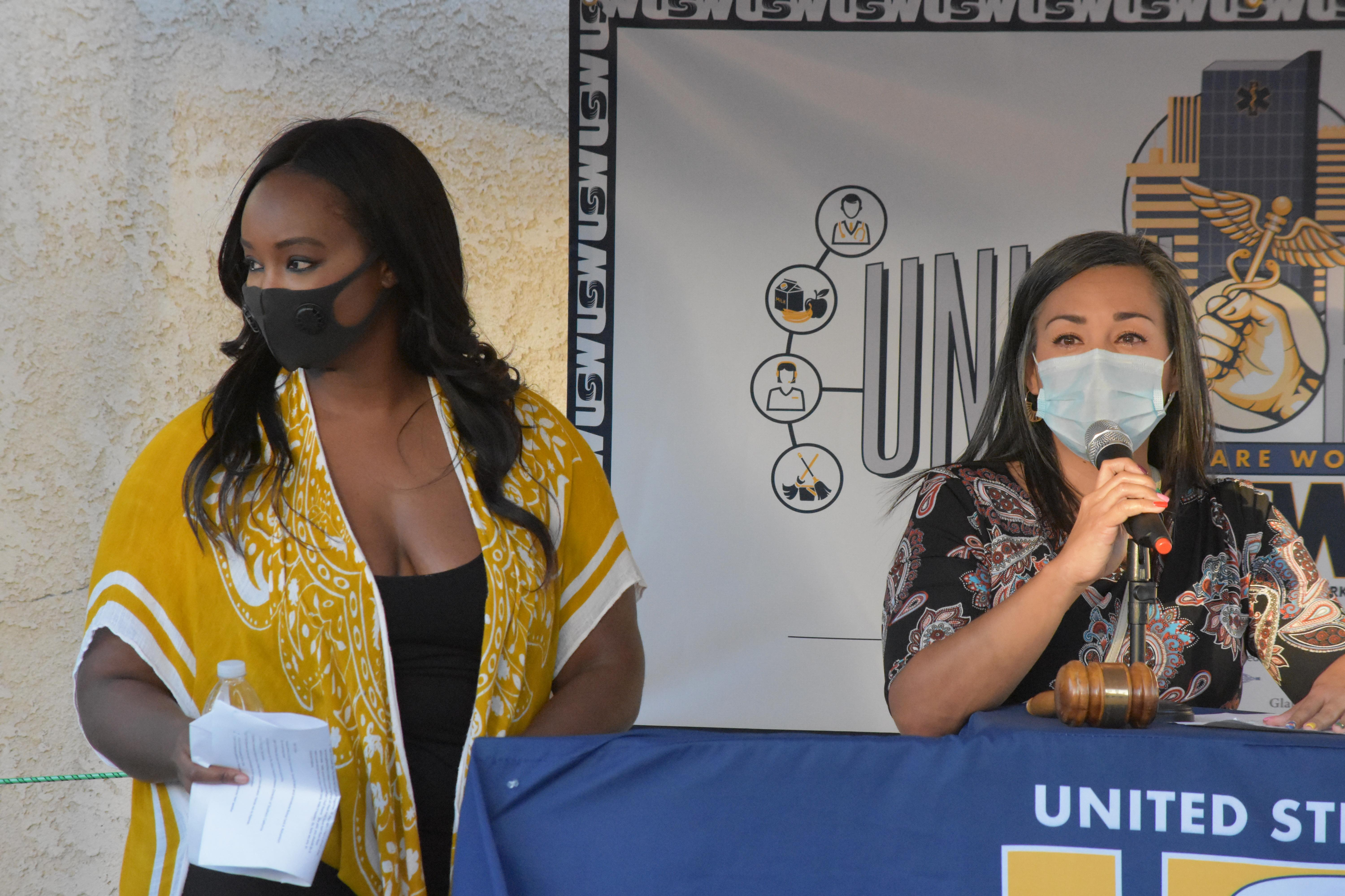 USW Local 7600 Member Dejonae Shaw Stands With Gabriela Plascencia – Riverside Councilwoman Ward 5 as She is Moved to Tears