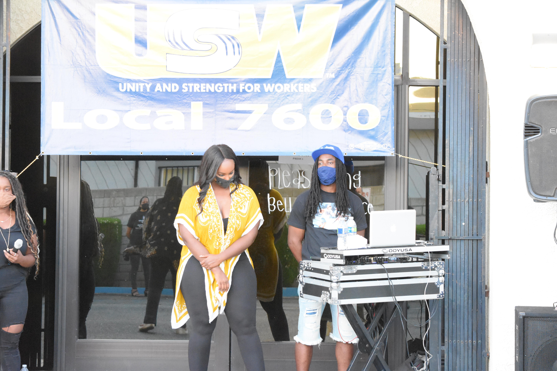 USW Local 7600 Member and DJ Will Supreme